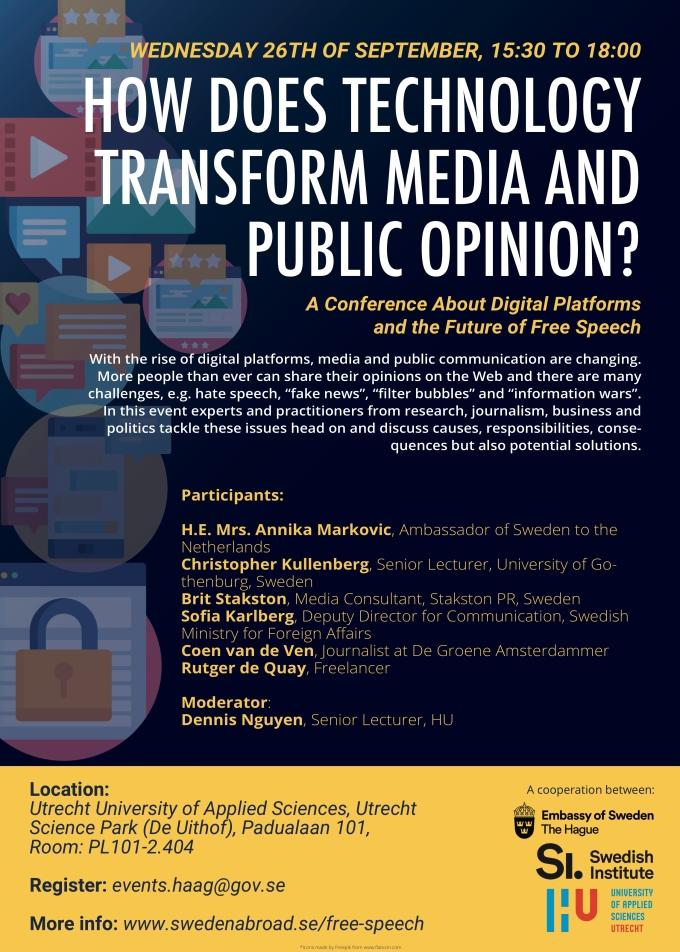 HU Poster Digital Platforms conference